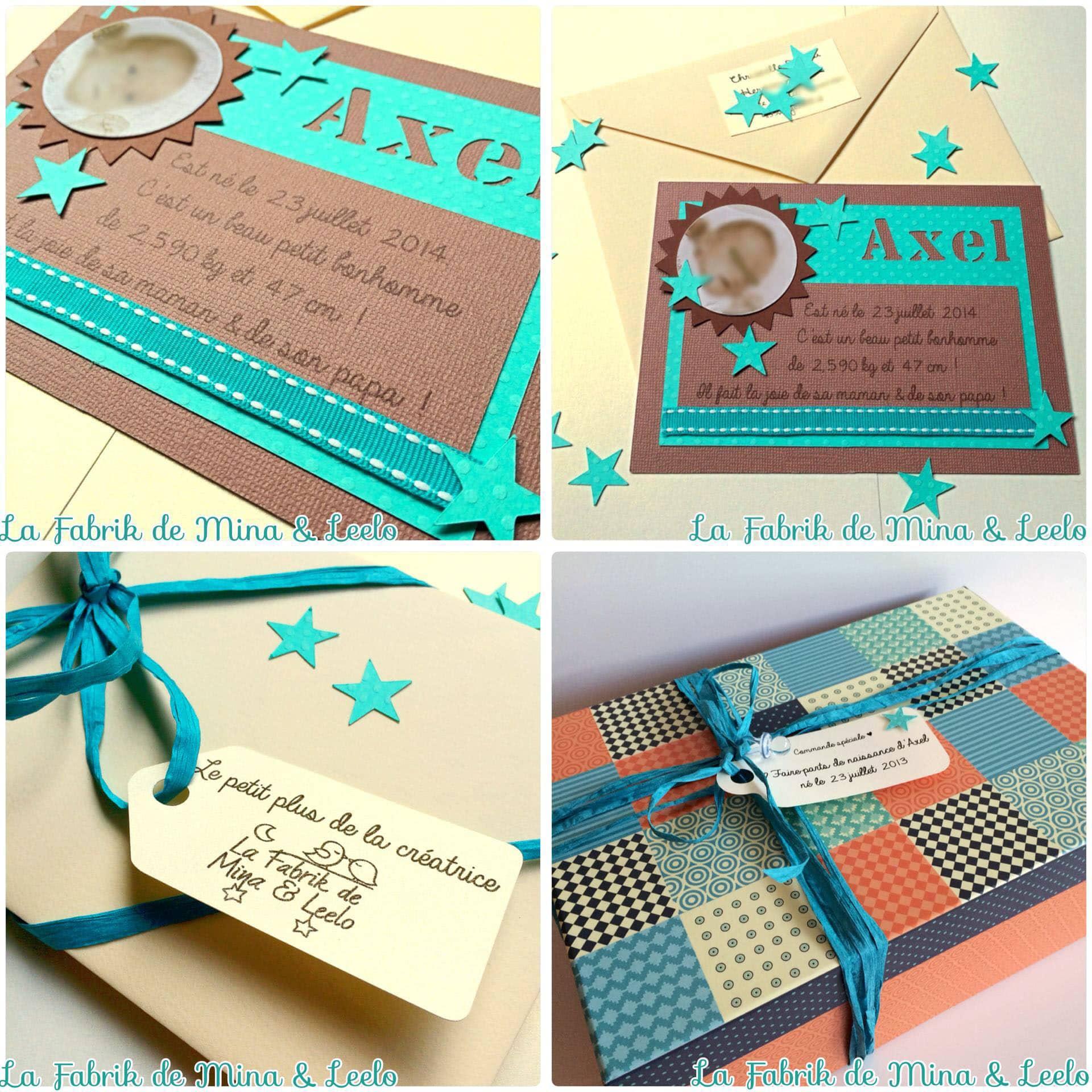 partenariat de faire parts naissance couleur chocolat
