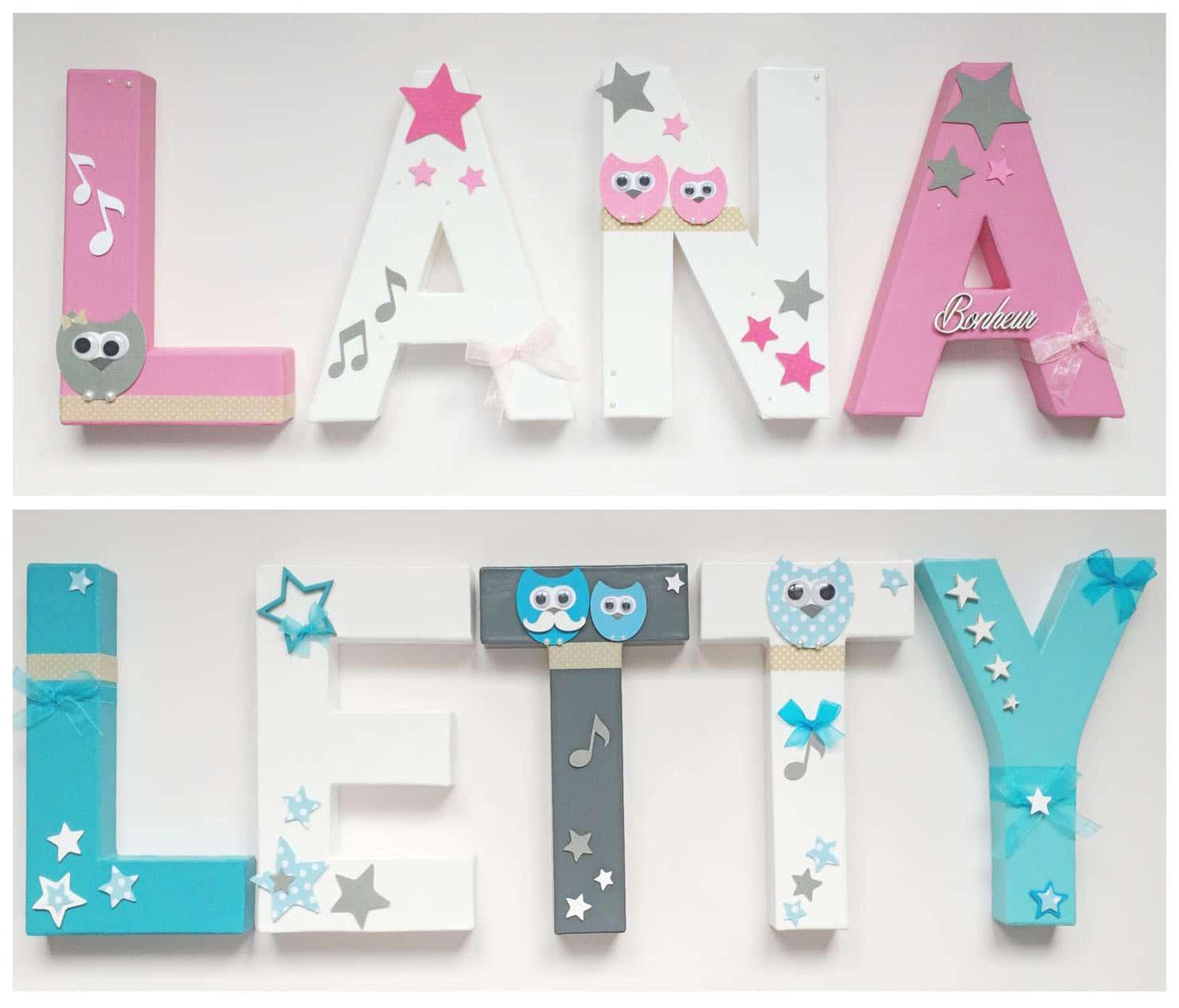 partenariat de décoration lettres personnalisées
