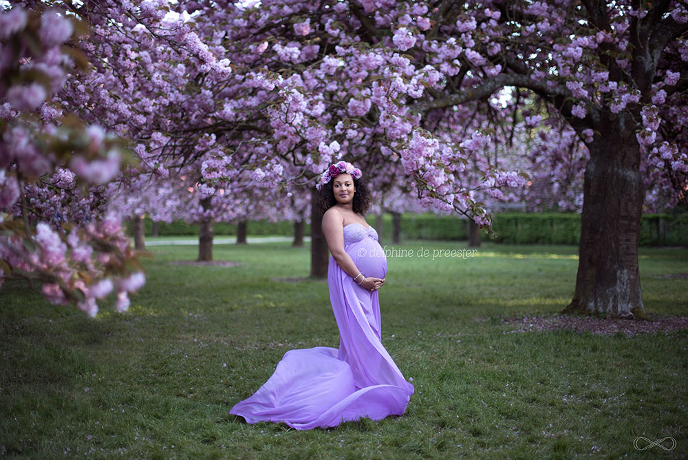 photographe de femme enceinte au parc de sceaux