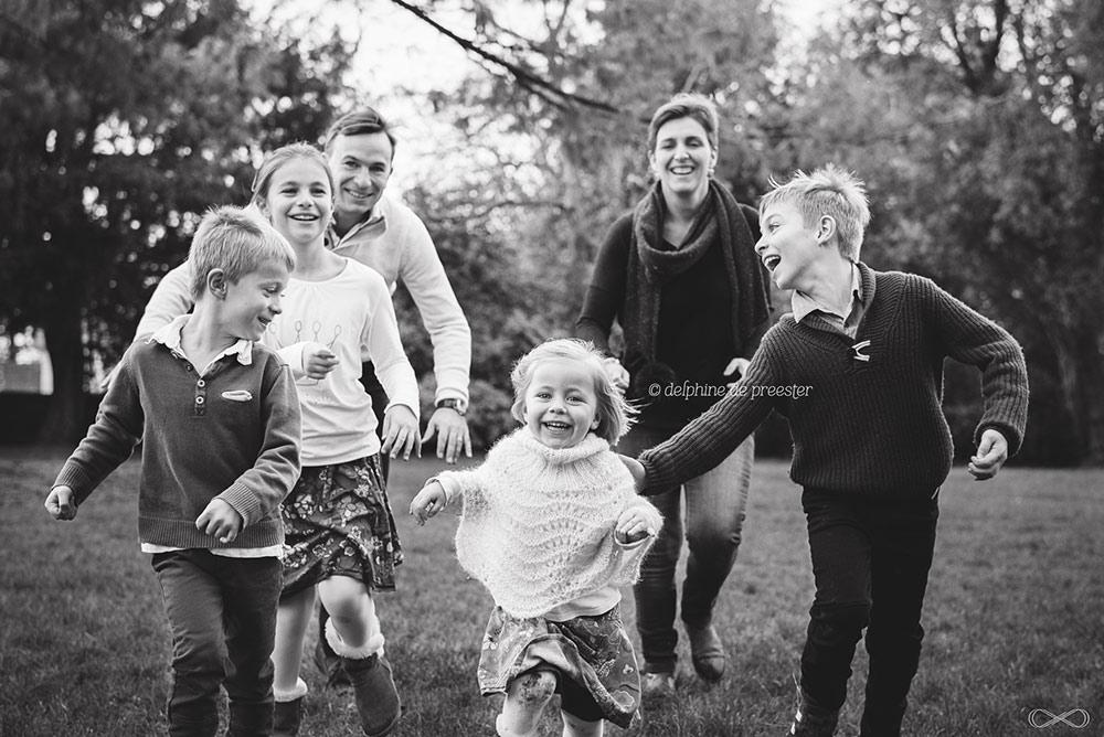 photos de famille dans un parc
