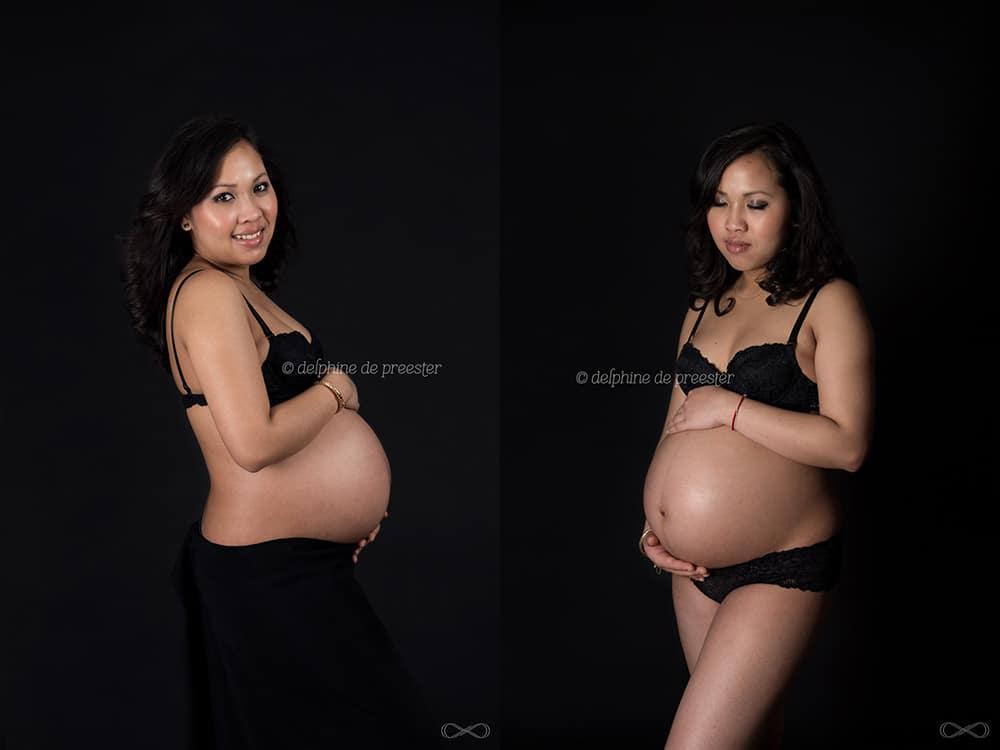 photos femme enceinte en lingerie