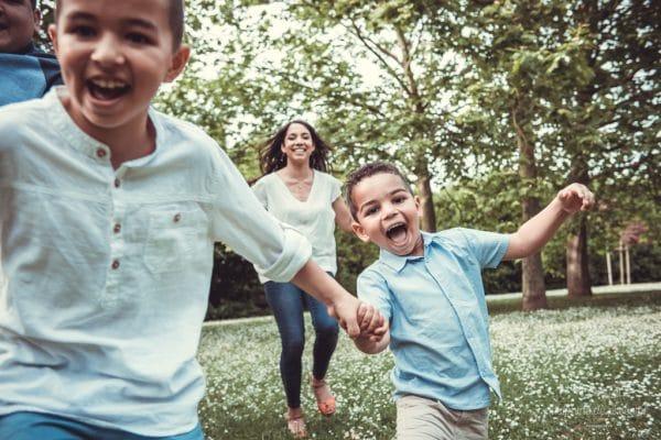 course poursuite en famille