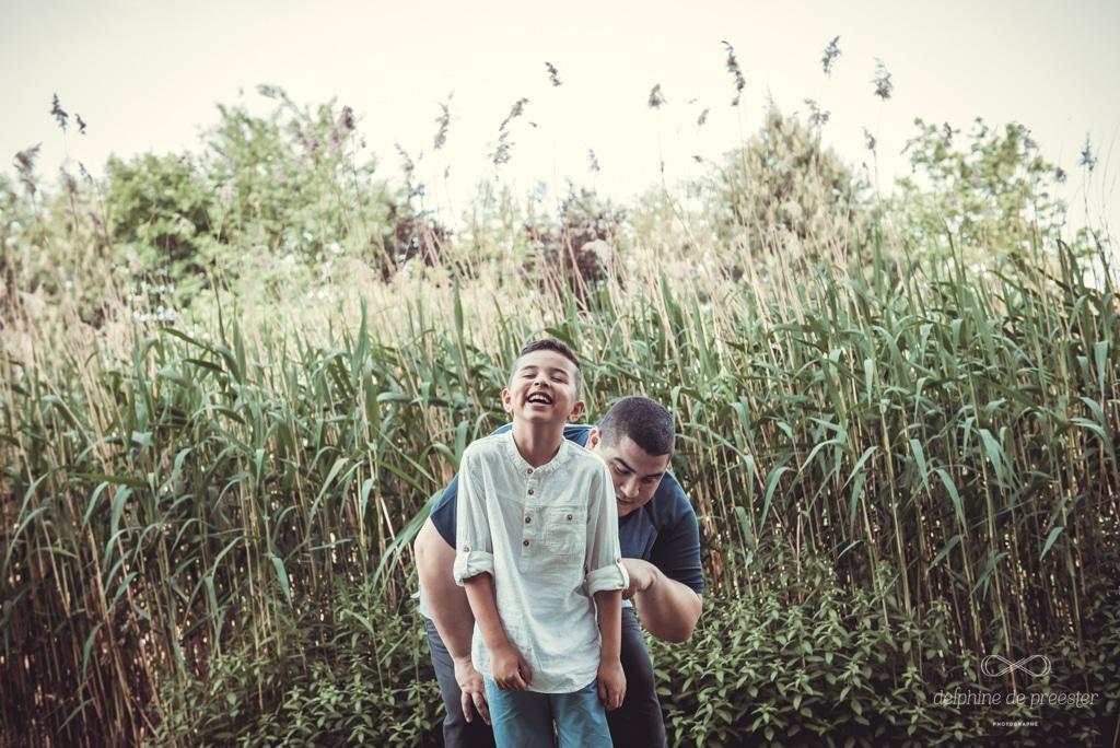 un moment entre père et fils