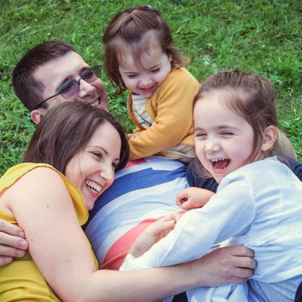 Séance photos famille colorée