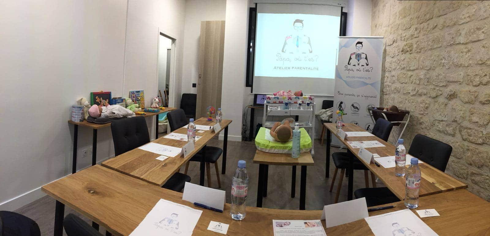 salle de formation pour préparer l'arrivée de bébé